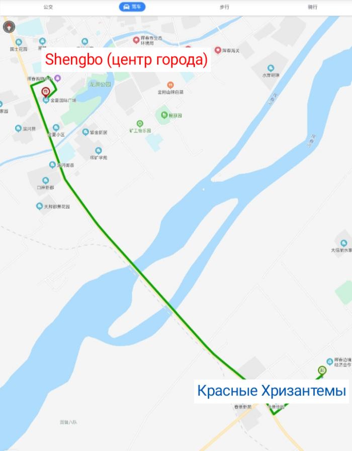 Маршрут от Hongju до Shengbo